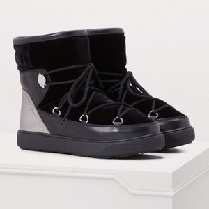 NWT Moncler Velvet Leather Trim Boots